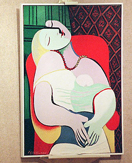 """Pablo Picasso """"Le Reve"""" / elbow   In 2006, casino mogul Steve Wynn agreed to sell this 1932 Picasso to fellow art enthusiast millionaire Steve Cohen. The selling price was $139 million — then the highest in history for a piece of art. Two days after the agreement was reached, however, Wynn (who suffers from an eye disorder that affects his peripheral vision) was entertaining friends at his Las Vegas casino when he accidentally thrust his right elbow through the canvas, leaving a silver-dollar-size hole. As a result, Wynn and Cohen agreed to invalidate the sale. The work was able to be restored, but its appraised value fell to around $80 million."""