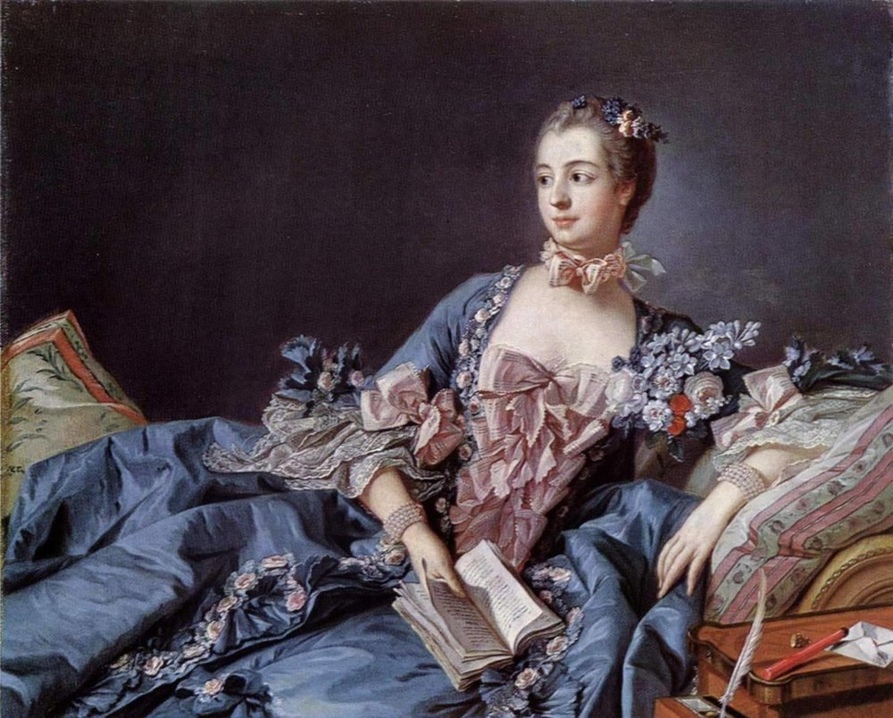 "Francois Boucher (unidentified artwork) / ink   In 1912, a woman vandalized a portrait by 18th-century painter Francois Boucher, coloring in the eyes, nose, and mouth of  with red ink and a paint brush.    After initially giving the false name Delaure Frolaine, the culprit was eventually identified as Prolaine Delarre, a Parisian seamstress. Explaining her actions, she said, ""I am miserably hungry and have been unable to find work. I often go to the Louvre, and the sight of the young woman in the picture with a happy smile and luxurious clothes maddened me. I decided to mutilate her hateful face in the hope that perhaps after that people would notice me and save me from starving."" With that she added, ""The picture displeased me and I wished to correct what I considered wrong."""
