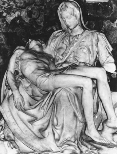 """Michelangelo """"Pieta"""" / geologist's hammer"""