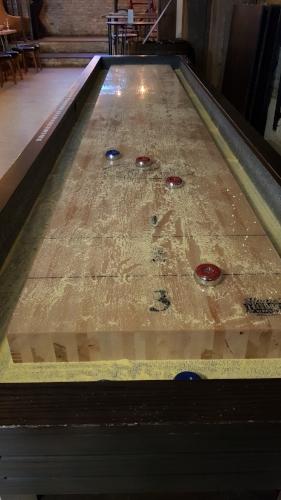 Yes. A shuffleboard!