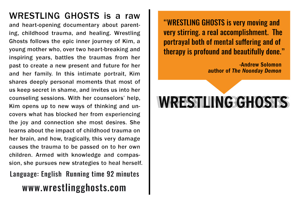 """Wrestling Ghosts  Screening Postcard Back (6.127"""" X 4.127"""") (Ready to Print once event details are added)"""