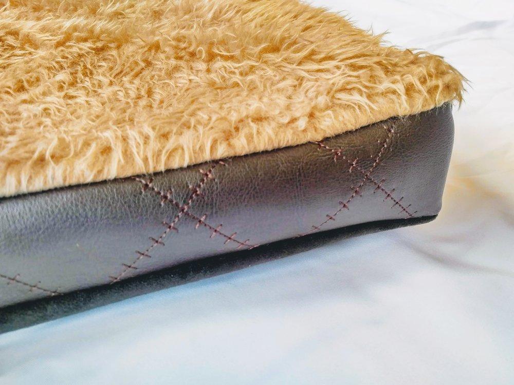 Vegan Leather Handmade Pet Bed