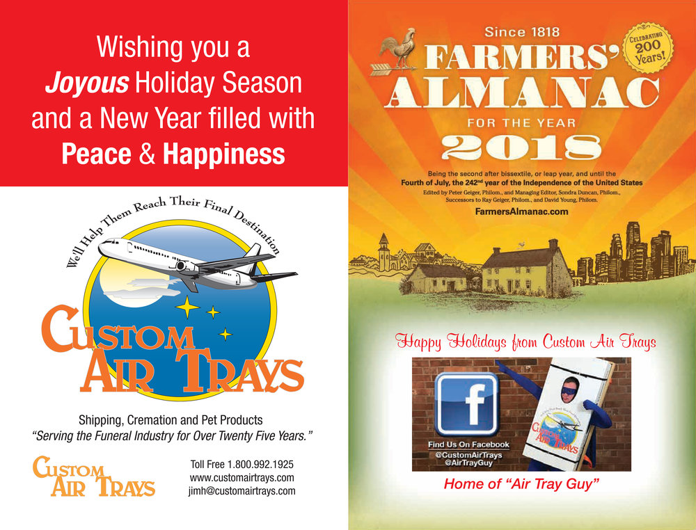 Back & Front of Farmers' Almanac