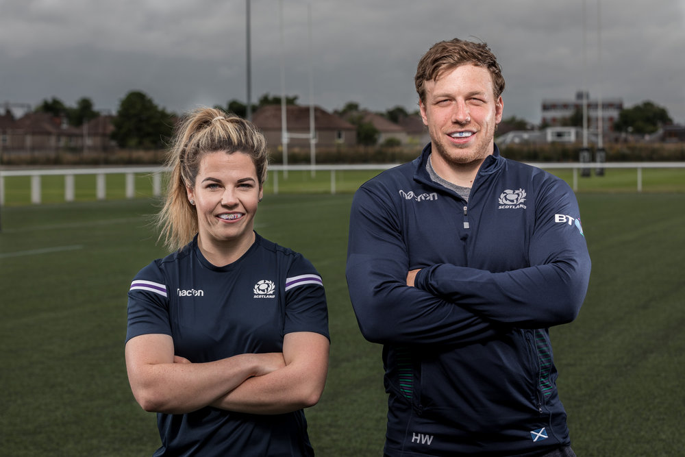 Scottish Rugby players with GRIT mouthguards