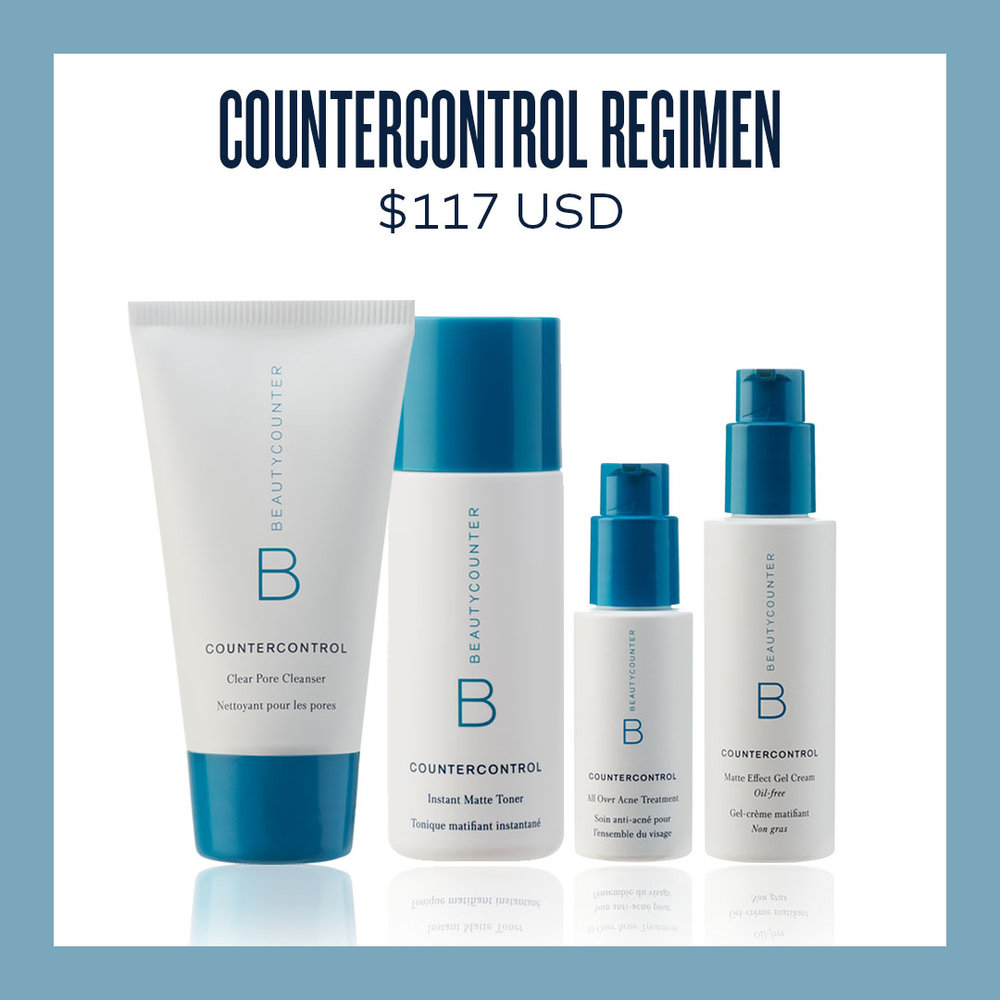 CounterControl Collection - Who's the young girl in your life? The CounterControl Collection was created with acne prone or teen skin in mind. Growing reproductive systems don't need a bunch of chemicals messing with their hormones. Formulated safe and without all the typical chemicals in acne products.Safety and performance in one set.