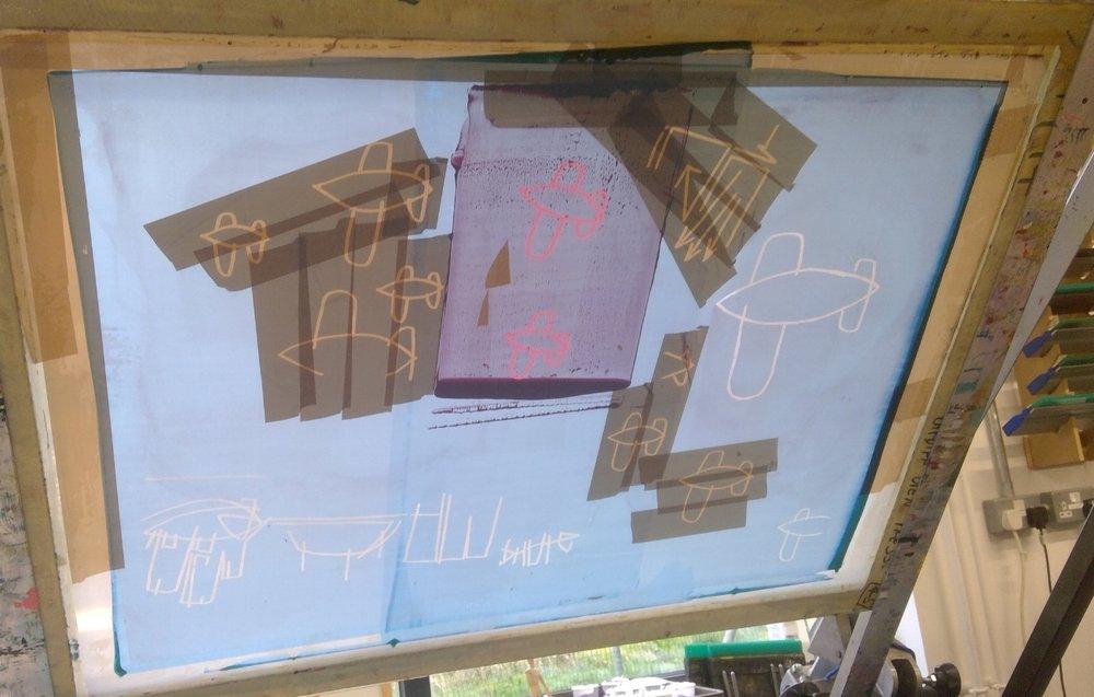 screen prints making books