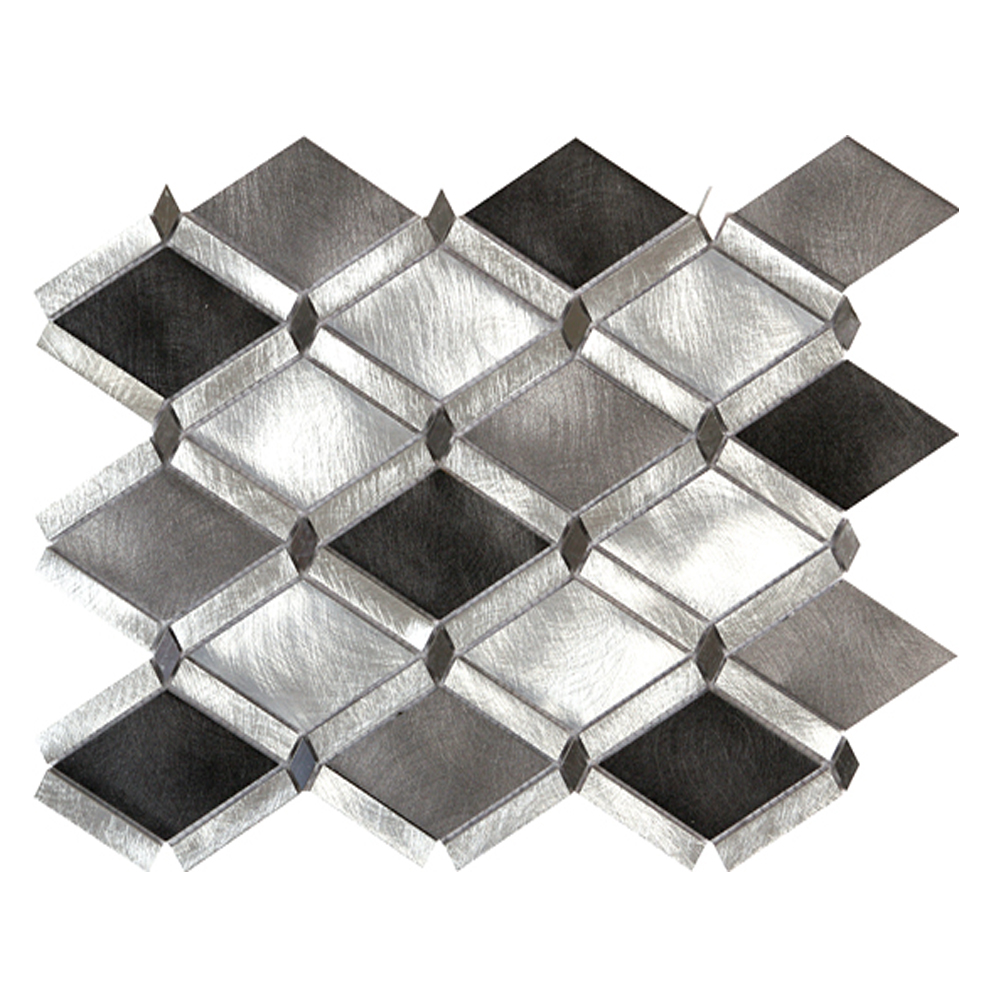 Silver & Charcoal Diamond