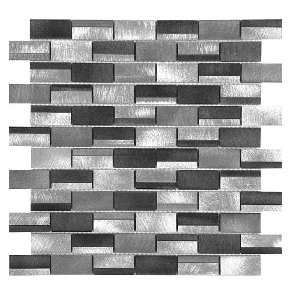 Silver & Charcoal Irregular