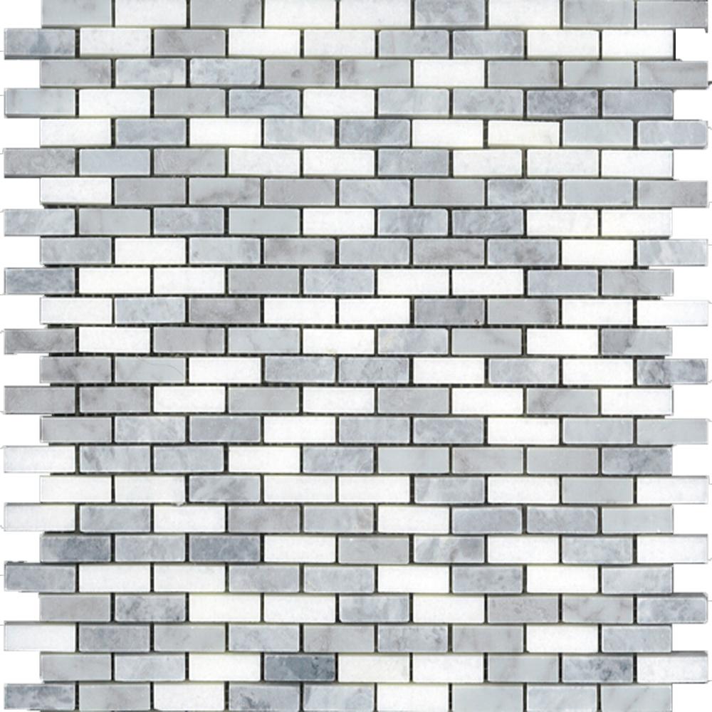Mugwort Grey, Thassos, Bianco Carrara Brick  Polished | GM.GRY/WHT.0,4X1,2BL