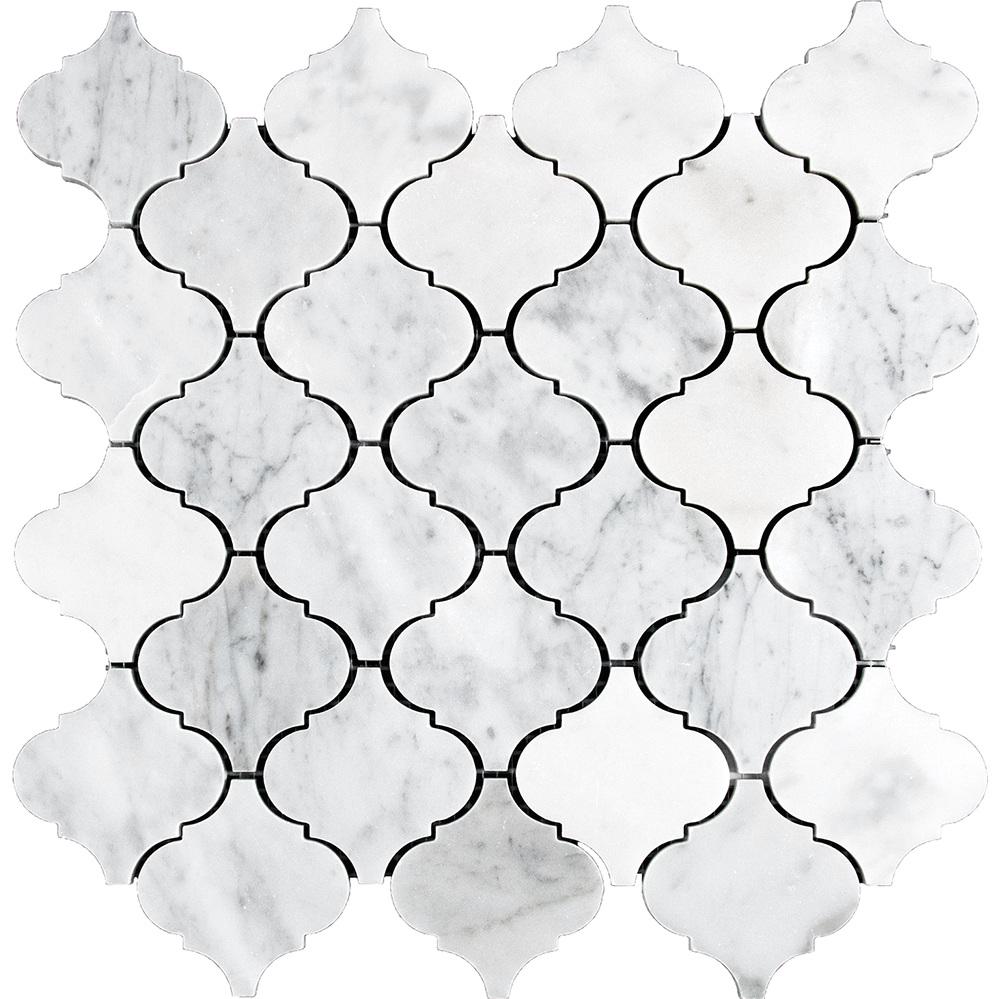 Lantern Mosaic  Polished | IC.WHITE.CARRARA.LANTERN