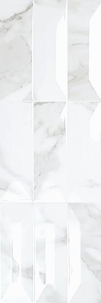"Bianco Calacatta  10""x30"" 