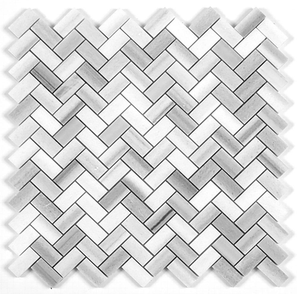 Herringbone Mosaic  Polished   GM.MARMARA.HER.BON