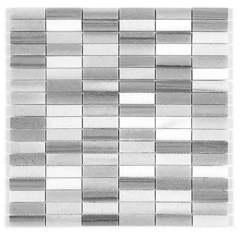 Stacked Mosaic  Polished   GM.MARMARA.0,6X1,9