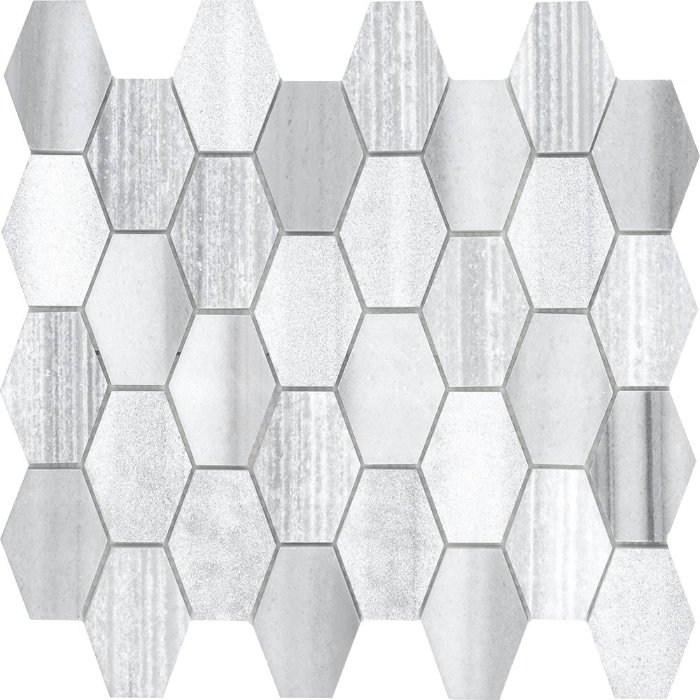 Picket Mosaic  Textured   GM.MARMAR.PICKET.TXT