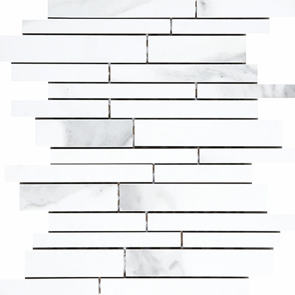 Irregular Linear Mosaic - White  Matte | OV.CX.WHT.LN.IRR.MT  Polished | OV.CX.WHT.LN.IRR.PL