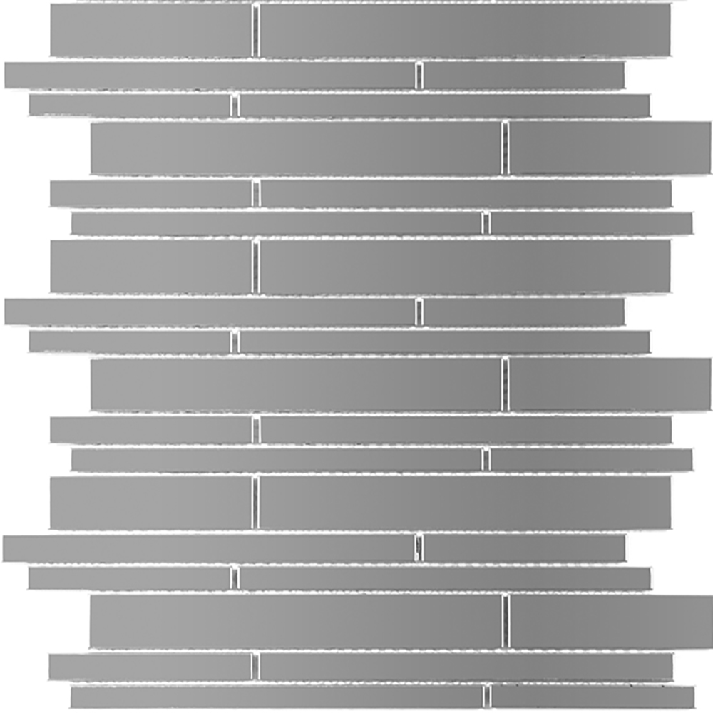 Silver Linear Brick  RJ.MT.SIL.LN.IRR.BD