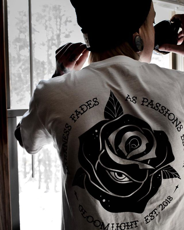 DARKNESS FADES AS PASSIONS BLOOM | Awesome shot of our newest shirt from @baskwithh 🤘🏻