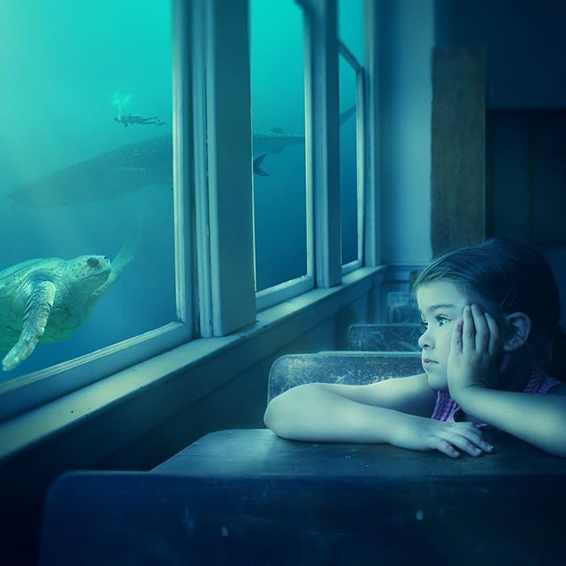 By Dorothe . #art #modernart #contemporaryart #surrealart #surreal #surrealism #surrealist #digitalart #imagination #dream #daydream #turtle #diver #scuba #scubadiver #underwater #ocean #whale