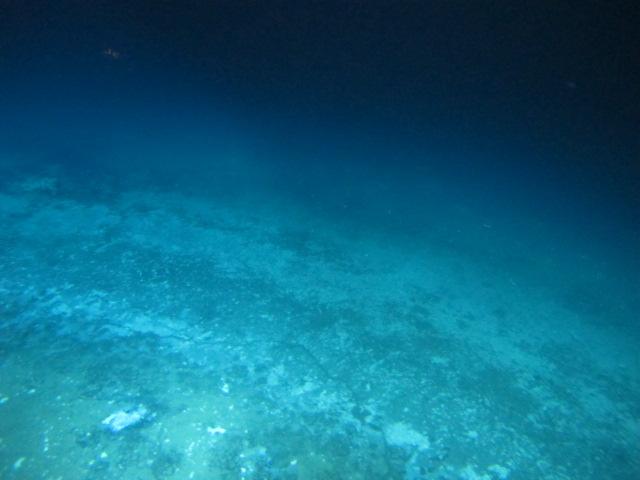 "Edge of the AC601 brine lake showing ""Barite Beach"""