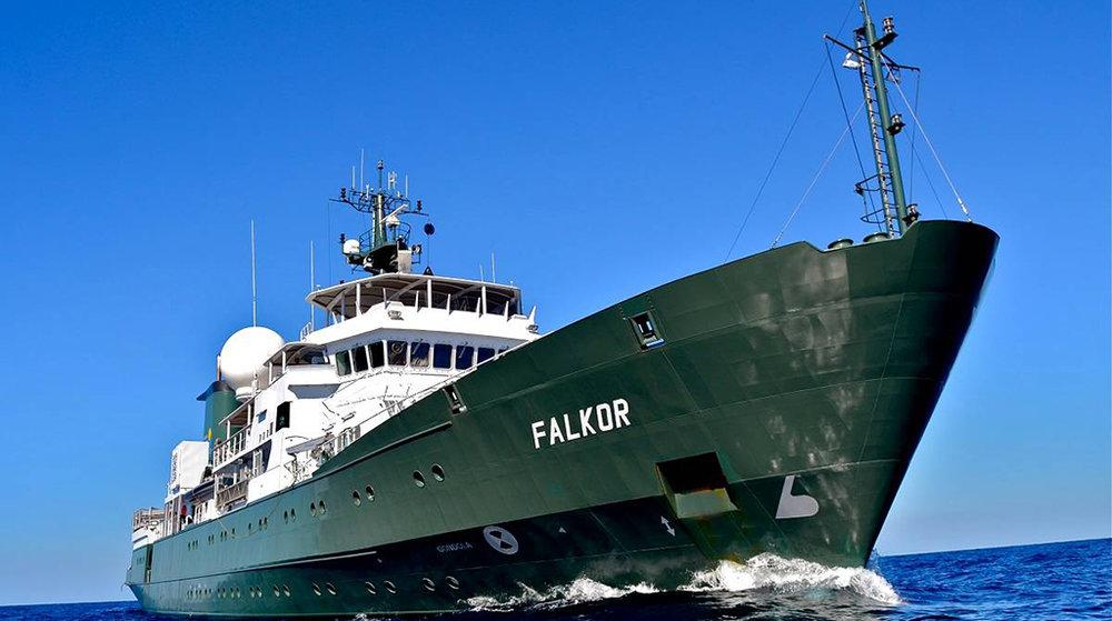 R/V Falkor. (Image by Debbie Nail Meyer, Schmidt Ocean Institute)
