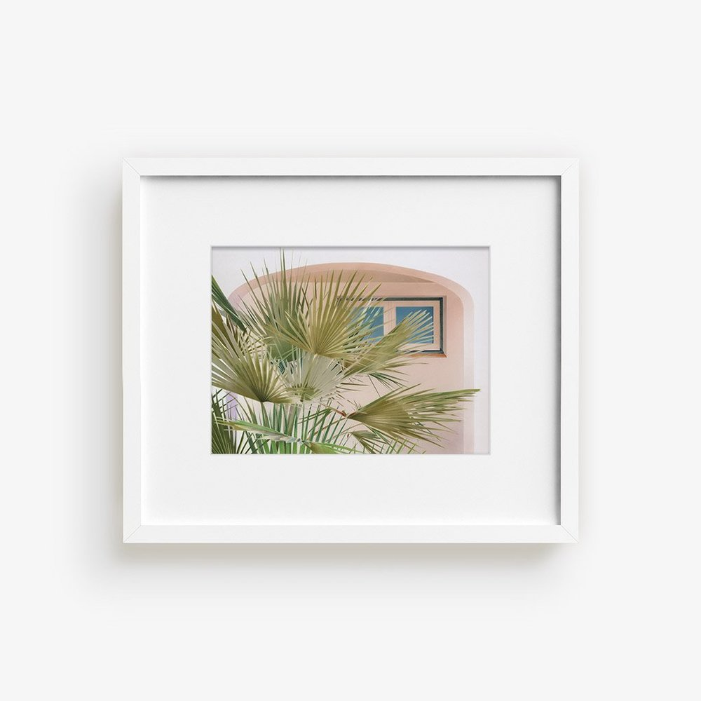 Marc Gabor    Palms 01   Roberts' photo-realistic works epitomize the simple beauty in everyday moments. The artist utilizes pastels to recreate ordinary daily scenes, with great attention to representing the play of light and transparency.