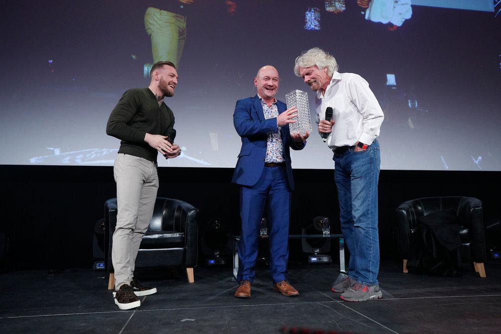 Conor McGregor, Alan, Sir Richard Branson