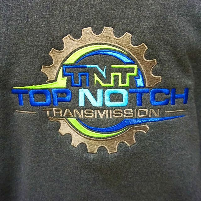 Check out this high quality embroidered hoodie we just finished for @topnotchtrans18 ⛓🔩🔧 . . . . . #embroidery #topnotchtransmission #customembroidery #shoplocal #smallbusiness #localbusiness #transmission #mechanic #tricolor #embroidered #hoodie #customhoodie #customshirts #gear #embroiderymachine