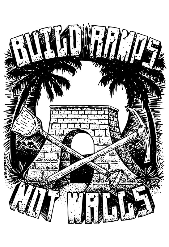 build ramps not walls - Build Ramps Not Walls (BRNW) documents a project that began with a tight knit Mexican and American skate community on the Pacific Coast of Mexico. The two main characters, a young American-Mexican skater, Nat and an older Mexican skater, Emilio, are looking for a positive response to the negative rhetoric between Mexico and the United States of America after the U.S.A. 2016 Presidential Elections. With the help of their diverse skate crew, they decided to come together and build a new ramp with the same construction materials that would be used to build the alleged wall between Mexico and the U.S.A. They designed the ramp, fundraised the money and brought together a group of over 40 volunteers from both sides of the border to build. With each day of construction, they saw that by building a ramp together, the community was not just pouring concrete. They were also promoting an ethic of hard work, encouraging youth leadership, sharing positive role models for local kids, and communicating across culture and language barriers with tolerance and the shared passion of skating. By building this ramp together, the community was opening opportunities for youth skaters in the region to improve their skills on better ramps without having to move to the big city or cross the border. They have put the skate community on the map for potential sponsors by documenting the project in a film and gaining attention for the region. Most importantly, they have offered an alternative solution to how to respond to the divisive rhetoric coming down from politicians these days.