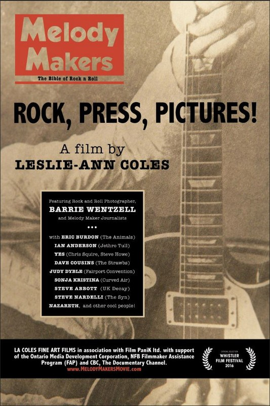 "- Melody Makers' captures the birth of music journalism during the zeitgeist of rock n' roll through the lens of photographer, Barrie Wentzell, Chief Contributing Photographer, Melody Maker magazine (1965-1975) whose iconic, largely unseen photo archive,  is the heart of the story.MELODY MAKERS tells the true story of the rise and fall of the most influential music publication in history. Melody Maker magazine began as a weekly jazz musician's trade paper in the 1920's and by the 1960's became an internationally recognized ""must read"" for rock n' roll fans and musicians alike. Melody Maker became a pop culture phenomenon and this was, to a great extent, due to its Chief Contributing Photographer, Barrie Wentzell (1965-1975) and his black and white photos that blistered across the front cover."