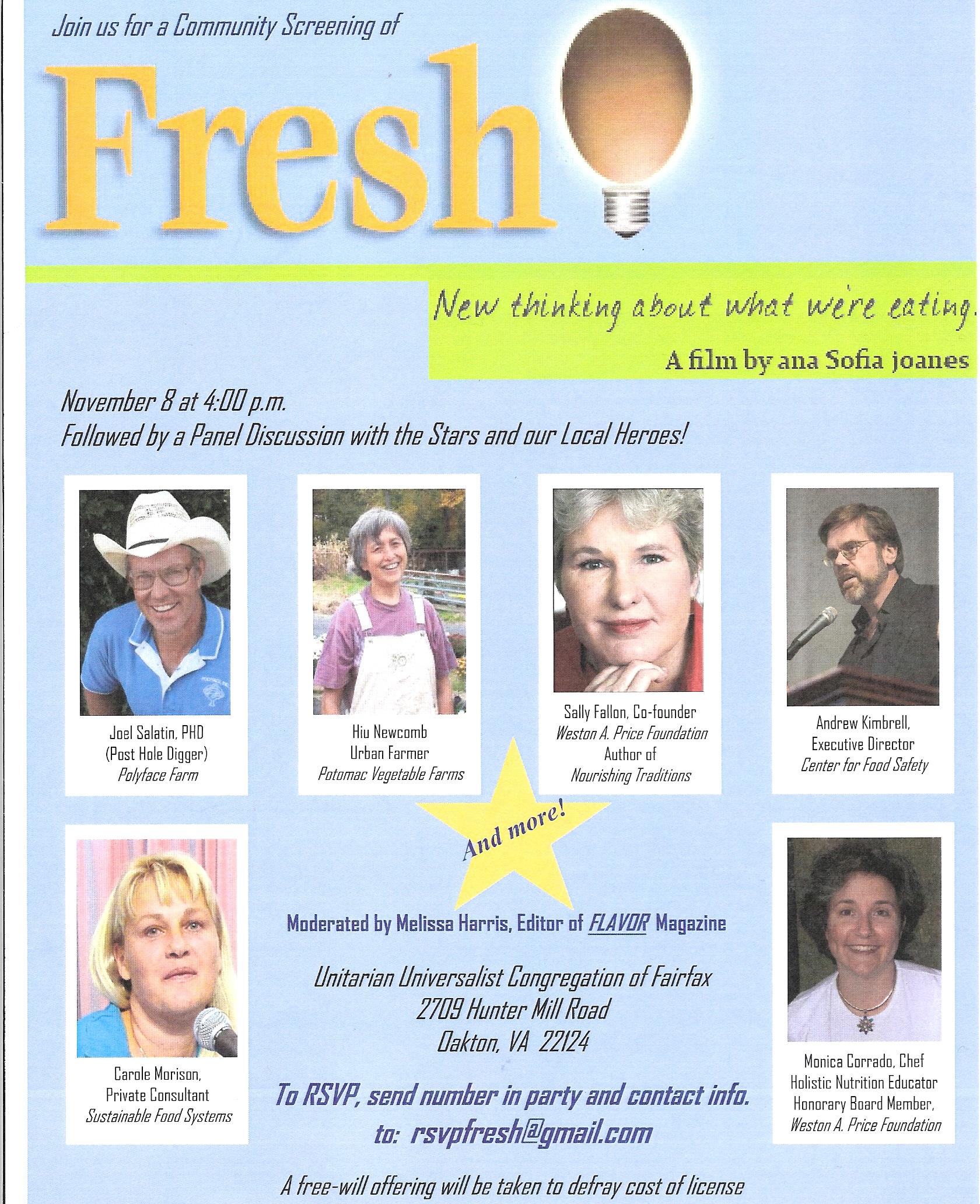 FRESH event Nov 8, 2009
