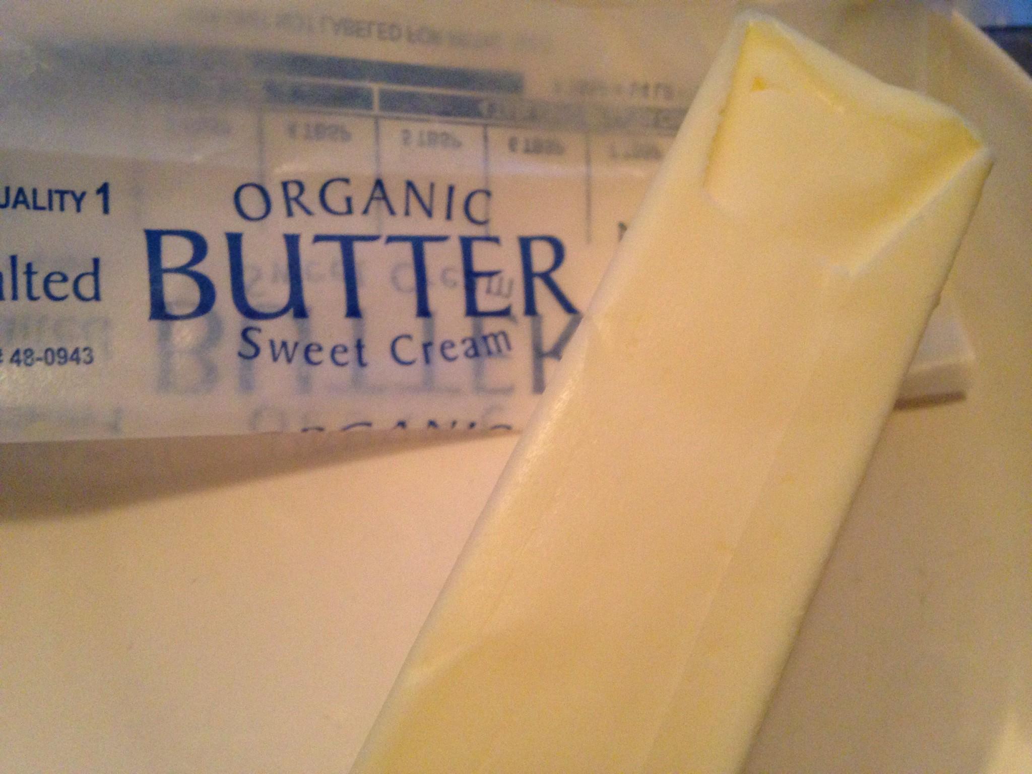 Organic butter: White :(