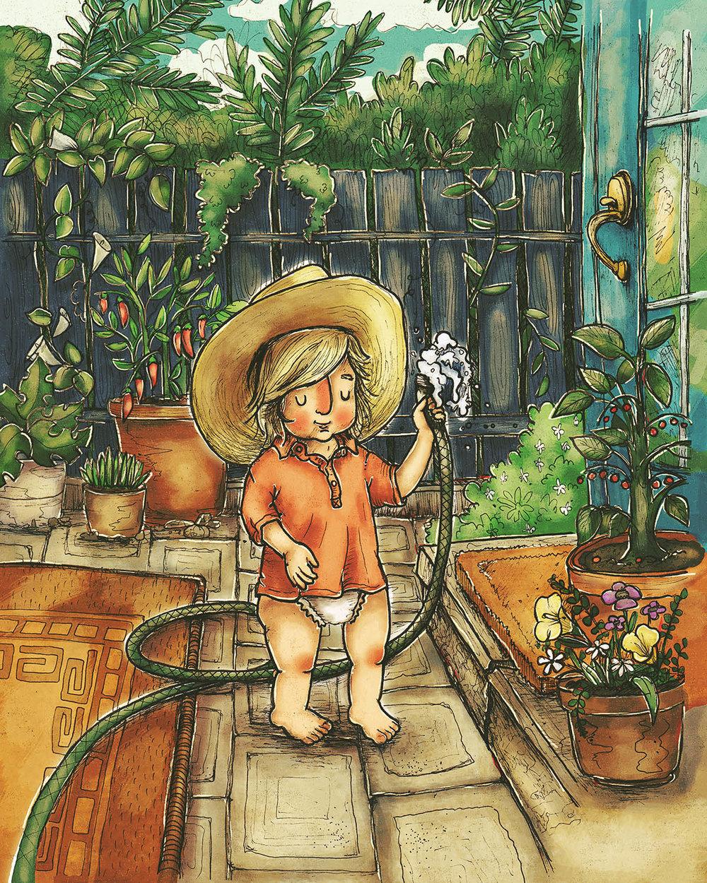 Noah in the Garden