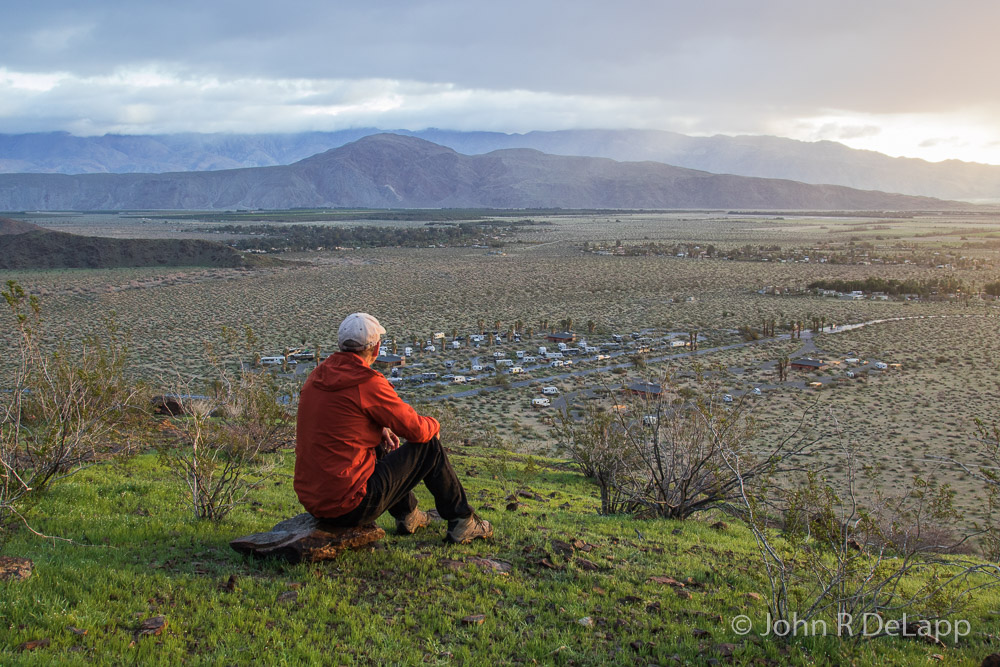 John DeLapp enjoying a desert sunrise in California