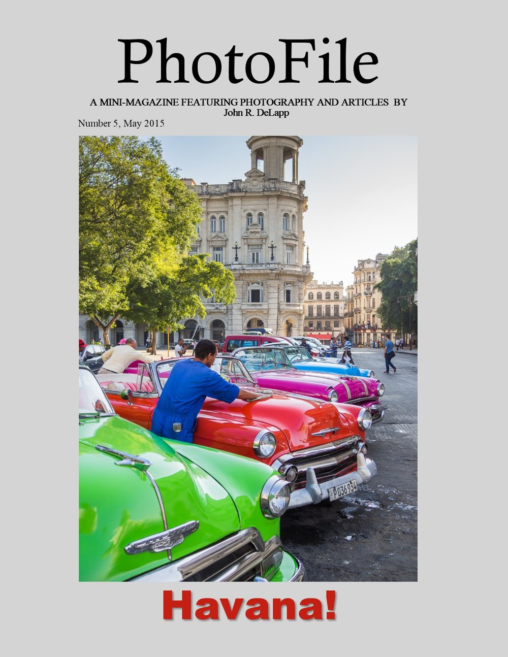 - Havana!Looking for information about travel and photo opportunities in Cuba? This magazine includes Cuban history, information about travel to Cuba, and many photos of Havana, its people, and culture from a week long stay in Havana in February 2015. Travel was arranged under a People to People Educational exchange for participation in a street photography workshop conducted by Peter Turnley.