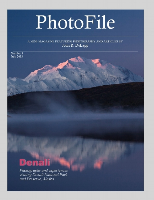 - DenaliPlanning a trip? This magazine is for you. Denali, the mountain, dominates the landscape and is a stunning sight, but Alaska's Denali National Park is much more than just one giant mountain. Its raw beauty, wildness, wildlife, and easy access is unequaled within the National Park Service system. You will find a wealth of information and photographs of this park in this issue of PhotoFile.