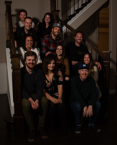 Taken at a crew screening of the film, this photo is most of the group of artists (and their partners) that helped make Boys with Bigger Hearts.