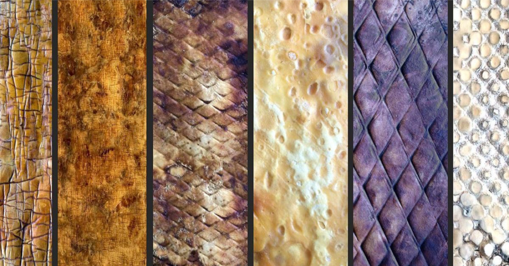 The leather can be in various textures and colours. Credit: Healthy Materials Lab.