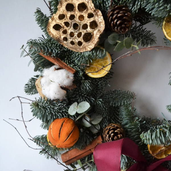 Click the image to shop the Mixed Spice Wreath on Etsy