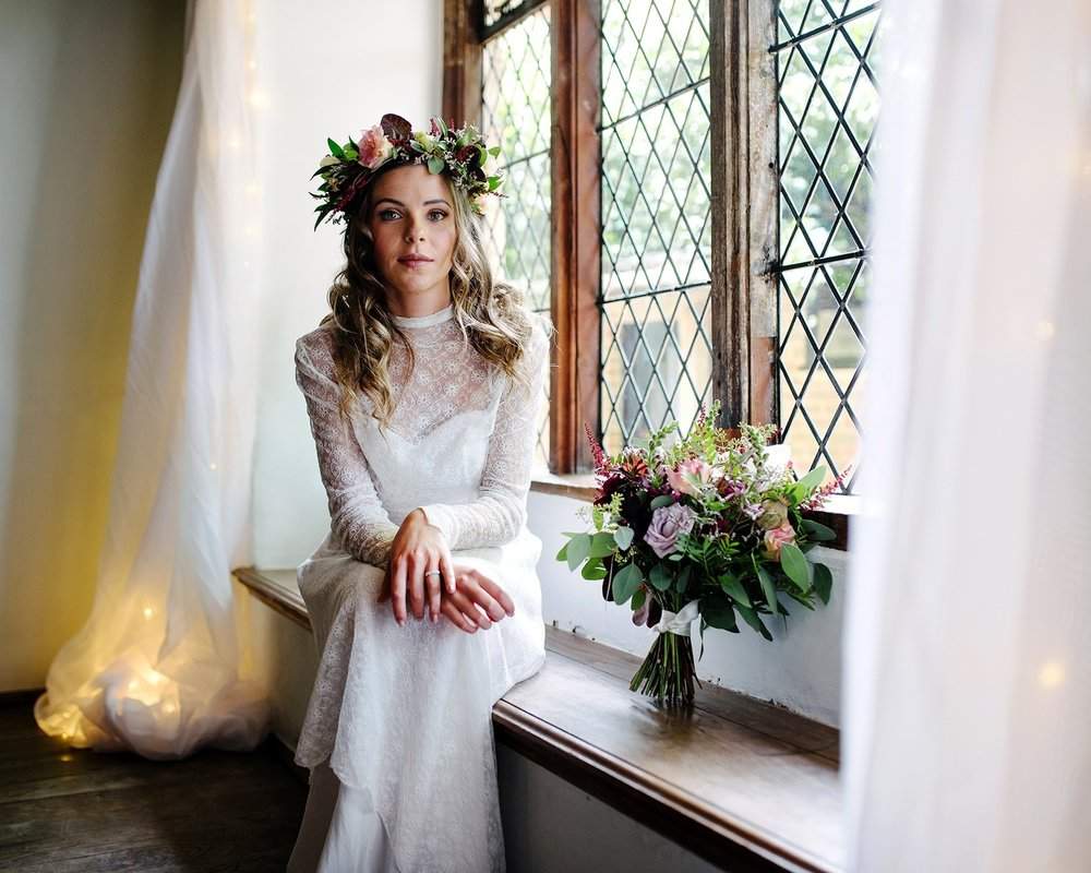 Photographer  Sarah Williams Photography , Venue  Pilgrims Rest , Wedding Planner  Bower Events , Make up  Jane Mather,  Hair  Simply Beautiful Wedding Hair , Dress  Story of My Dress