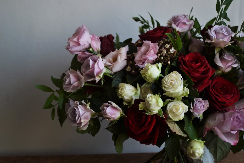Webb-and-Farrer-Brighton-Florist-Sussex-Wedding-Flowers-Blush-Pink-Burgundy-Bridal-Bouquet (11).JPG