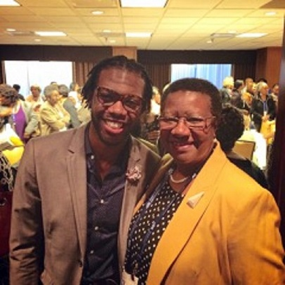 With Dr. Evelyn Crayton, former Academy of Nutrition and Dietetics President and my undergrad advisor at Auburn University