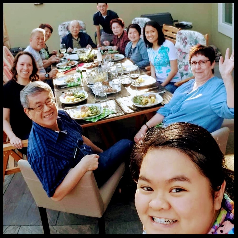 My husband and I hosted both our families for Mother's Day at our house this year.