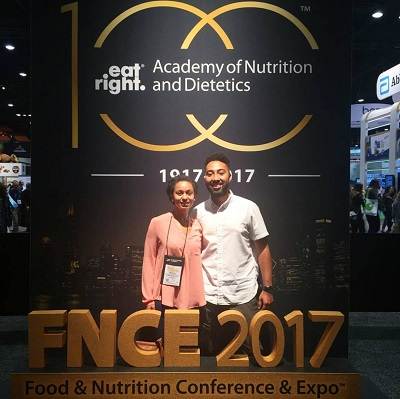 At my first FNCE in Chicago, with my husband Doug