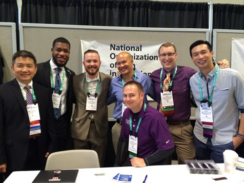 With fellow NOMIN (National Organizatino of Men in Nutrition) Members at FNCE in 2015