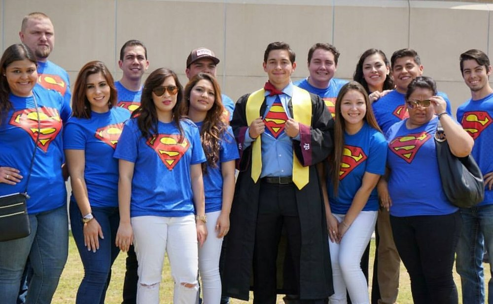 With my family at my grad school graduation