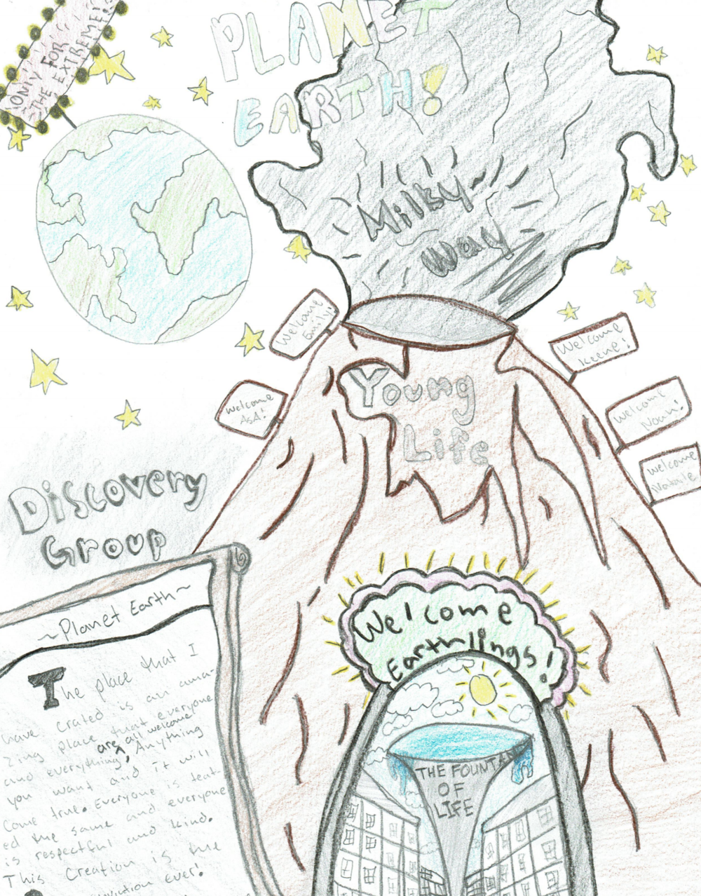 Artistic rendering of utopia by a Discovery Group participant.