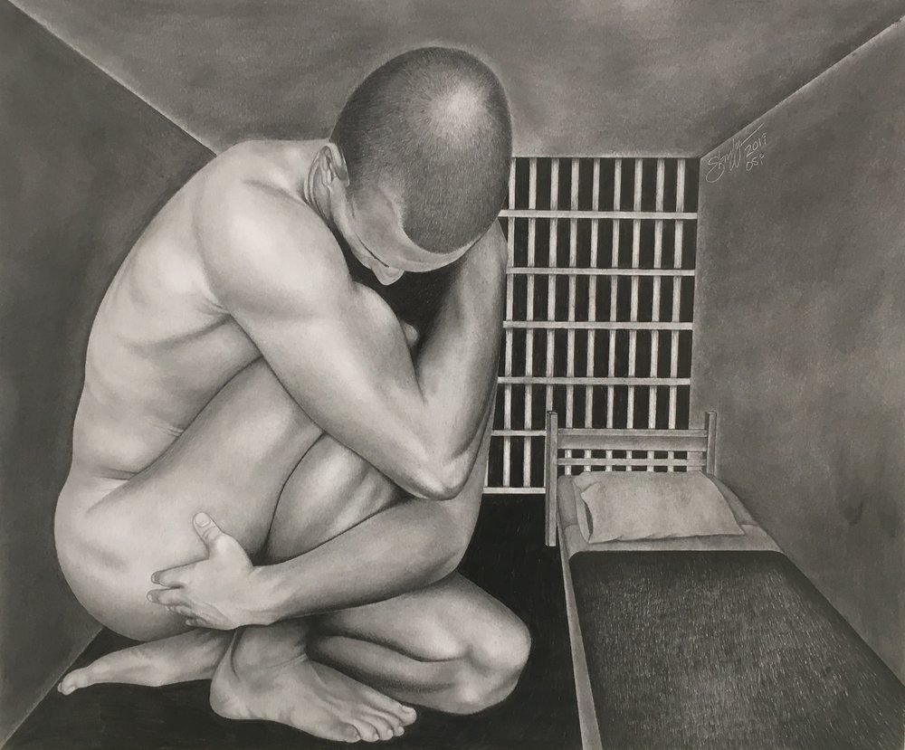 "Sang, One's Own Prison - Graphite""The joys from creating art came early on in my life. Besides a few basic art classes in middle school and high school, I am mostly self-taught. My development came by studying art books, imitating great artistic works and constantly sharpening my skills. I enjoy the challenges of being an artist. By patiently striving to overcome challenges, I seek to find success both in art and in life. I am interested in the human form, faces and figures. Emotions, expressions, experiences are elements used when designing my work. In order to truly move forward as an artist, I must persevere. To strive, to seek, to find, and not to yield."""
