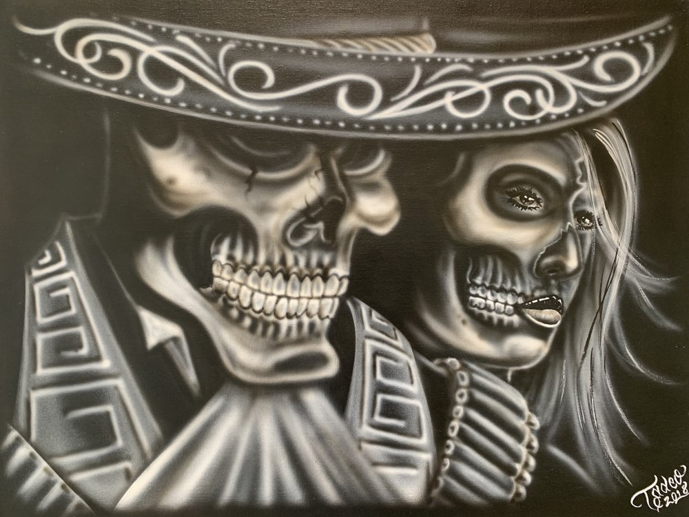 Alex, La Vida Loka, Till Death Do Us Part - Airbrush
