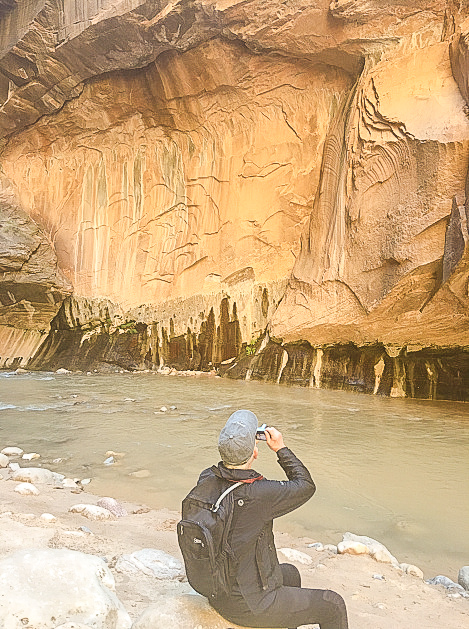 Dad in the Narrows, Zion National Park