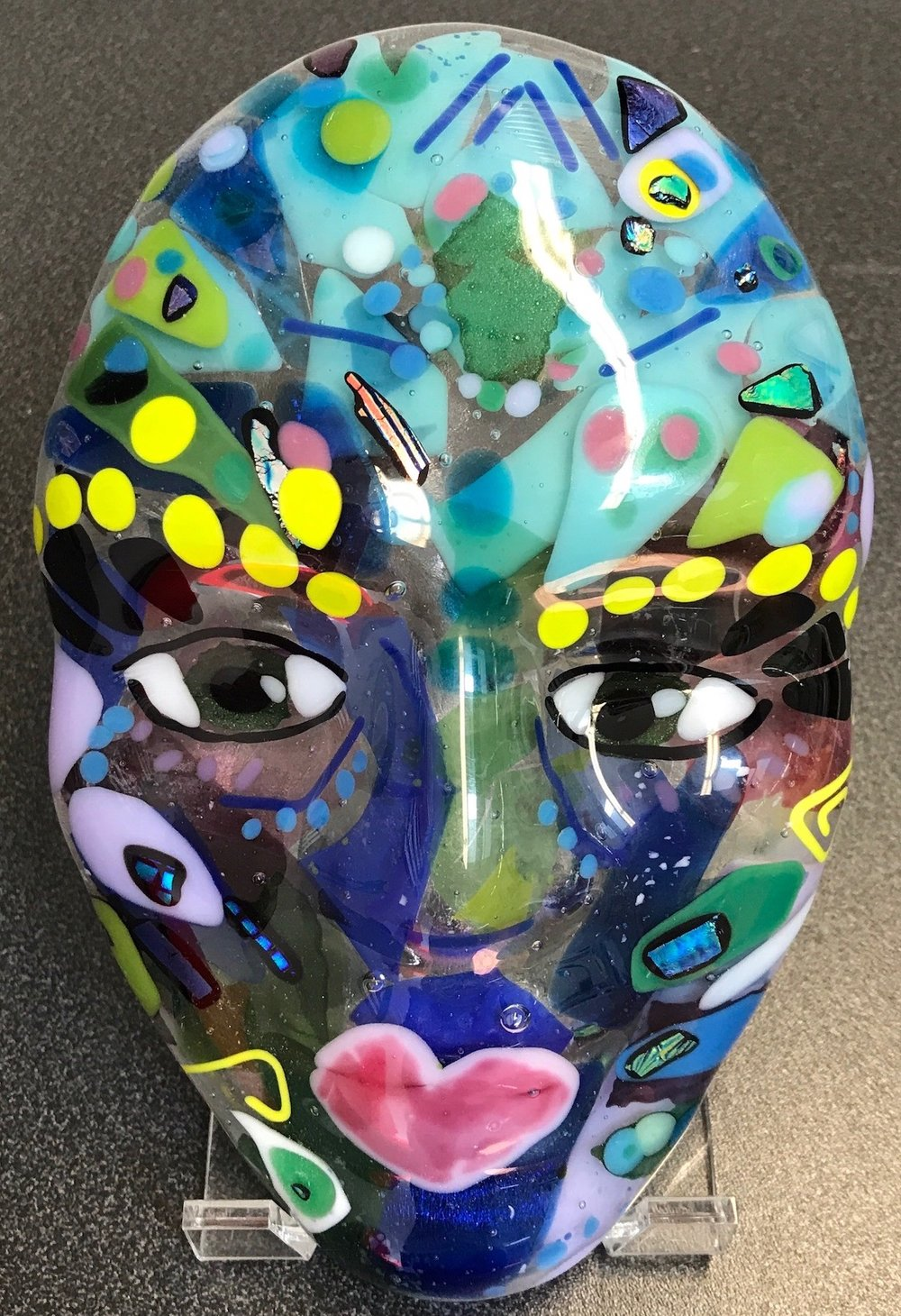 Fused Glass Art Camps - Fused Glass Face